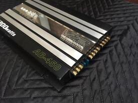 ADS V12 AB-450 four channels car amplifier amp