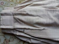 Three pairs of dusky pink weave curtains