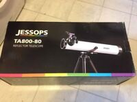 Jessops TA800-80 Reflector telescope with 3x Barlow Lens
