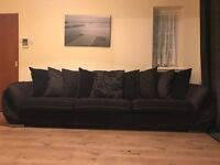 Luxury 5 seater chocholate brown sofa