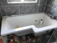 L shape bath