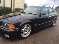 BMW 325 MANUAL TOURING E36 10 MONTH MOT CHEAP RETRO RWD DRIFT BARGAIN SWAP PX