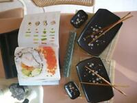 sushi- set and book