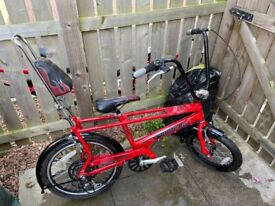 Raleigh Chopper Bike Mk3 Red (Mint Condition) 6 Speed Shimano Gears (Rare Retro Bicycle)