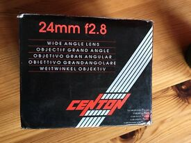 Centon 24mm f2.8 wide angle lens for sale. Canon FD fitting. 52mm diameter.