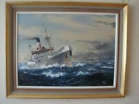 Original marine oil painting by Colin Verity