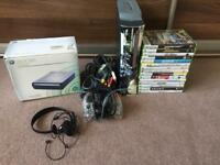 60GB Xbox 360 console 15 games HD DVD Player