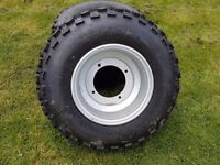 Quad bike alloy wheel and tyre