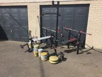 2 York benches and weights