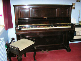 Vintage 1930s Upright Piano by B. Squire & Sons, London