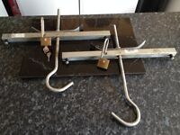 2 x Ladder Clamps with 2 long shackle locks