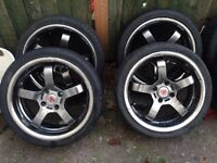 "Wolfrace 17"" alloys with tyres 4 stud"