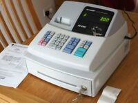 Sharp CASH REGISTER with spare paper rolls and ink rollers