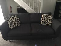Grey 3 Seater sofa and matching chair