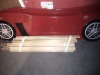 Lightening mcqueen racecar bed
