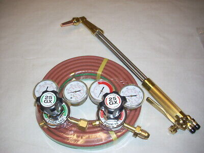 Harris V-series 21 Lp Propane Cutting Torch Regulator Kit W 25 Hose Fit Victor