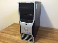 AMAZING GAMING DELL T3500 Xeon Quad Core / 16 GB RAM / SSD / Ati FirePro V7800 3D Graphics Desktop