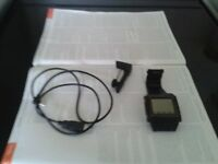 sWaP mobile phone watch, black, original classic, stainless steel, charger, USB cable bluetooth set.