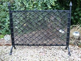Steel Posts and Link Fire Screen / Fire Guard.