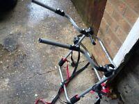 4 x 4 bike rack takes 2 bikes fit to rear spare wheel with straps vgc