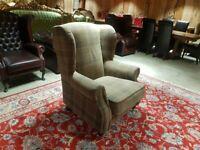 Tartan Wingback Chair