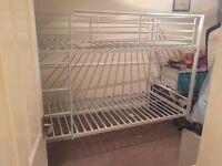 White metal bunk beds SSTC