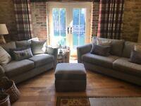 Grey DFS sofa set