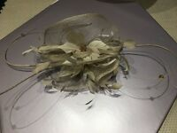 Ben de Lisi Mink/Gold Fascinator