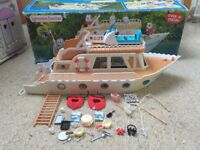 Sylvanian Families Marita May Pleasure Boat With Box