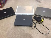 4x Working Laptops, Ideal for spares/repair or rebuilds.