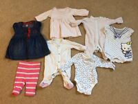 Baby girl clothes - newborn/up to 1 month