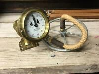 Old Walker's Cherub Trident Ships Log & Flywheel c1900