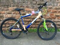 New Boss Vortex G18 Adults Hard Tail Disc Mountain Bike - Green/Blue RRP £275
