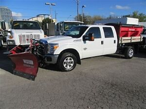 2015 Ford F-350 Crewcab 4x4 diesel New V plow New salter