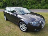 2006 AUDI A3 2.0 FSI SPORT PETROL 5DR HATCHBACK MOT JULY 2018 JUST TAKEN IN PX UP ON THE MILES CHEAP