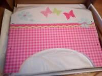 Girls toddler bed butterfly's an flowers design