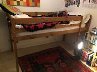 High Sleeper Pine Single Bed.