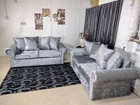 UK EXPRESS DELIVERY | GLP CRUSHED VELVET 3+2 OR CORNER SOFA + FREE FOOTSTOOL SOFA | 1 YEAR WARRANTY