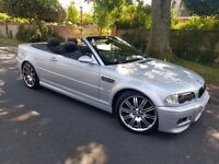 2002 BMW M3 3.2 2DR CONVERTIBLE MANUAL 99,000 FSH 1 OWNER