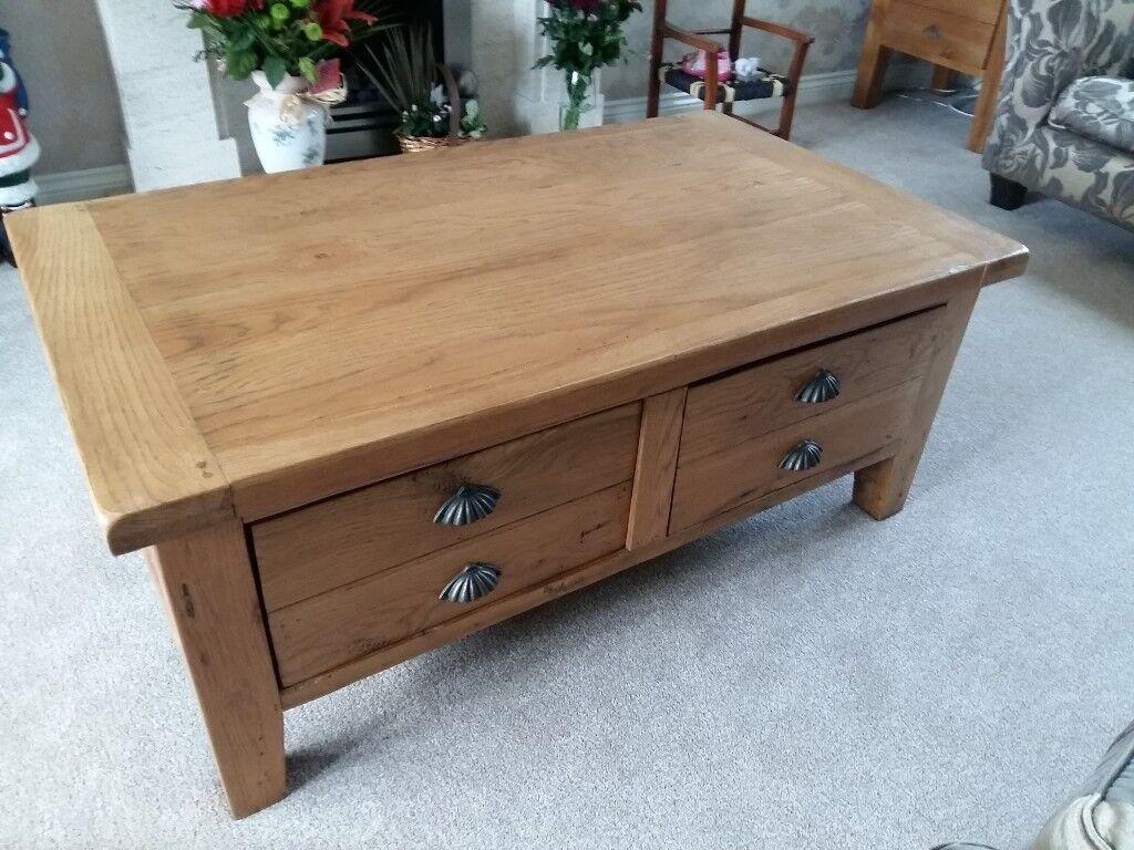 Reclaimed Oak Coffee Table For Sale