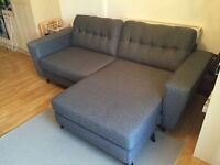 DFS Blue / Grey corner sofa