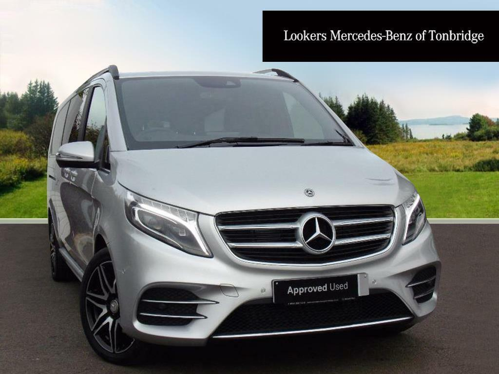 mercedes benz v class v 250 d amg line xl silver 2017 09. Black Bedroom Furniture Sets. Home Design Ideas