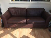 large 2 seater leather marks and spencer sofa