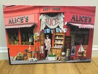 Photograph of Alice's Antique Shop (Notting Hill) on Canvas