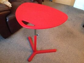NEW Adjustable Height Side Table, ideal for Laptop, red colour.