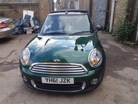 MINI ONE CONVERTIBLE 2011 BRITISH RACING GREEN FOR SALE