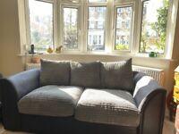 Large grey/ black sofa