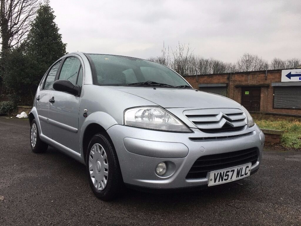 2007 57 citroen c3 sx 1 4 petrol silver 12 moths mot low mileage in nottingham. Black Bedroom Furniture Sets. Home Design Ideas