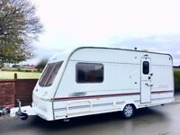 Lunar Clubman 2 Berth Caravan With End Washroom - Lightweight Caravan