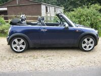 2004 Mini Convertible.68k with history.Metallic mauve with full grey leather.